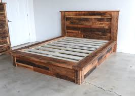 Wood Bed Platform Reclaimed Wooden Beds Rustic Solid Wood Bed Frames Eat Sleep Live