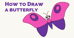 how to draw a butterfly in a few easy steps easy drawing guides