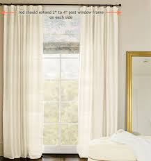 Pottery Barn Curtain Hardware How To Hang Curtain Rods Beautiful Decoration Hang Curtain Rod