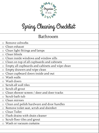 spring cleaning checklist bathroom organise it all