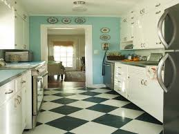 Vintage Galley Kitchen - download black and white floor tile kitchen gen4congress com