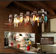 Restaurant Kitchen Lighting Recycled Retro Hanging Wine Bottle Pendant Ls Light With Edison