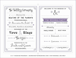 printed wedding programs new post free downloadable wedding program template that can be
