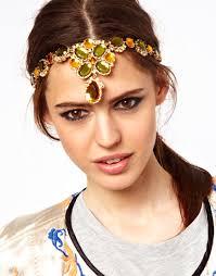 jewelled headband asos ornate jewelled headband lyst