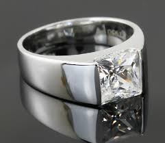 silver diamonds rings images Square brilliant generous men jewelry 2ct nscd lovely diamond ring jpg