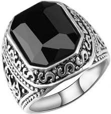 vintage bands rings images Buy mens retro ring huge black crystal vintage band rings jewelry jpg