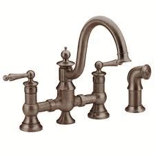 Moen Copper Kitchen Faucet Shop Moen Waterhill Oil Rubbed Bronze 2 Handle Deck Mount High Arc