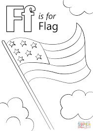 letter f is for flag coloring page free printable coloring pages