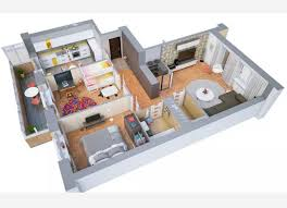 One Bedroom Apartment Layout Modern Apartments And Houses 3d Floor Plans Different Models