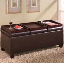 Leather Ottoman With Storage And Tray by Best Leather Ottoman With Storage U2013 Home Improvement 2017