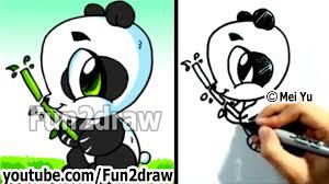how to draw a cartoon panda cute pandas kawaii panda bear