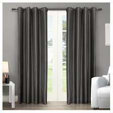 silk home chatra faux silk grommet top window curtain panel pair exclusive