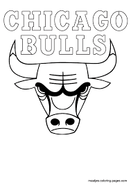 basketball logo coloring pages bull coloring pages getcoloringpages com