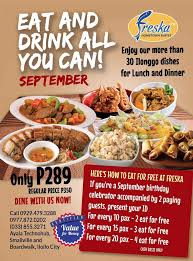 Eat All You Can Buffet by Hometown Buffet By Freska Home Iloilo City Philippines Menu