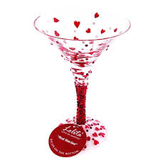 stemless martini glass red tini martini glass from flamingo gifts