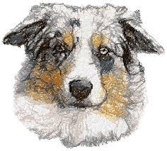 advanced embroidery designs australian shepherd