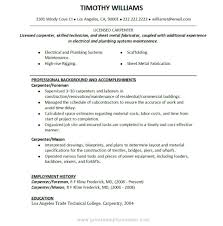 Objectives For Construction Resumes Carpentry Resume Carpenter Job Description For Resume Writing