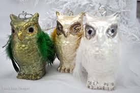 owl ornaments diy faux glass owl ornaments smoothfoam
