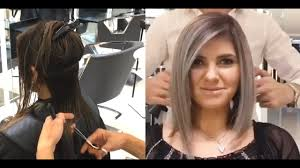 hair cut and color transformation by mike ism mounir salon youtube