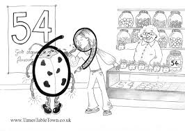 free times table story colouring sheets