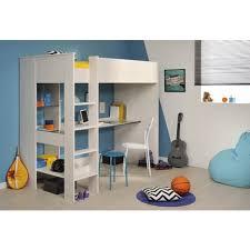 lit surélevé avec bureau lit mezzanine reverso avec bureau finition ou bleu pas cher