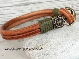 leather bracelet with anchor images 47 best leather bracelet images etsy shop fashion jpg