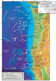 Northern Oregon Coast Map by Cascadia Turbidites