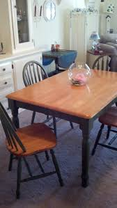 my 10 year old dining room table and chairs after using annie