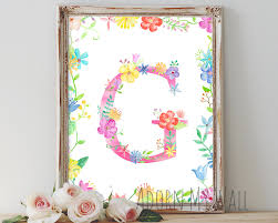 Nursery Wall Decor Letters Letter G Wall Instant Wall Decor Monogram G
