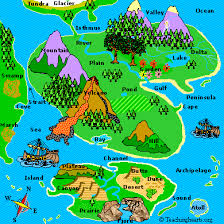 africa map landforms geography land forms