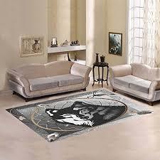 interestprint graphic wolf dreamcatcher area rug cover carpet 7 x