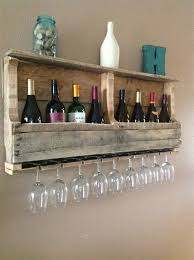 another rustic pallet wine rack with glasses vinoplease