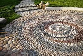 Diy Stone Patio Ideas Pebble Stone Patio Ideas Home Design Ideas