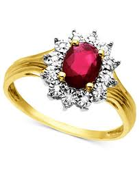 gemstone rings ruby images 10k gold ring ruby 3 4 ct t w and diamond accent rings tif