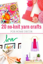 1541 best crafts images on pinterest no knit yarn crafts for home decor
