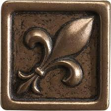 collection 1 x 1 bronze fleur de lis marazzi tile