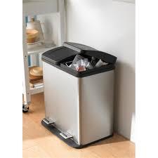 kitchen island trash bin simple kitchen set with rectangular step stainless steel