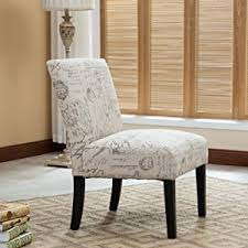 Contemporary Accent Chair Roundhill Furniture Botticelli Letter Print
