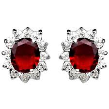 earrings uk oval halo cluster earring studs costume jewellery stud earrings uk