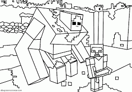 minecraft zombie pigman coloring pages eson me