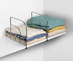 Closet Dividers Shelf Divider Closet Storage Ideas 9 Notorious Problems