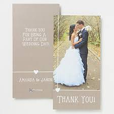 personalized cards wedding personalized wedding photo thank you cards single photo