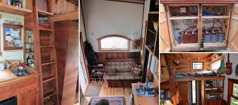 off grid tiny house made from reclaimed wood