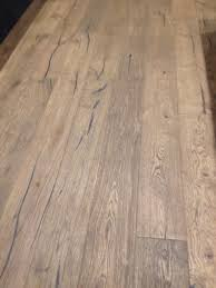 Distressed Engineered Wood Flooring 220mm Wide Oak Distressed Antiqued Engineered Flooring Light Brown