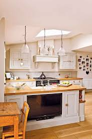 kitchen television ideas open plan family kitchen diner real homes