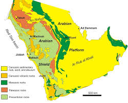 rub al khali map sedimentary rocks
