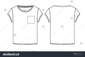 basic tshirt pocket vector technical sketch stock vector 666271432