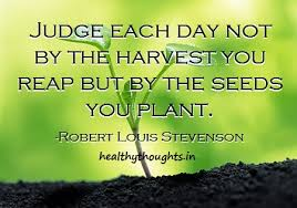 r l stevenson quotes on judging your day thought for the day