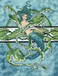 62 mermaid artwork brown images mermaid