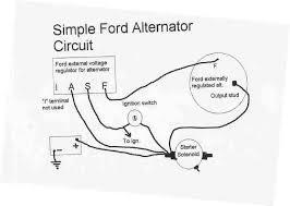 simple alternator wiring diagram efcaviation com